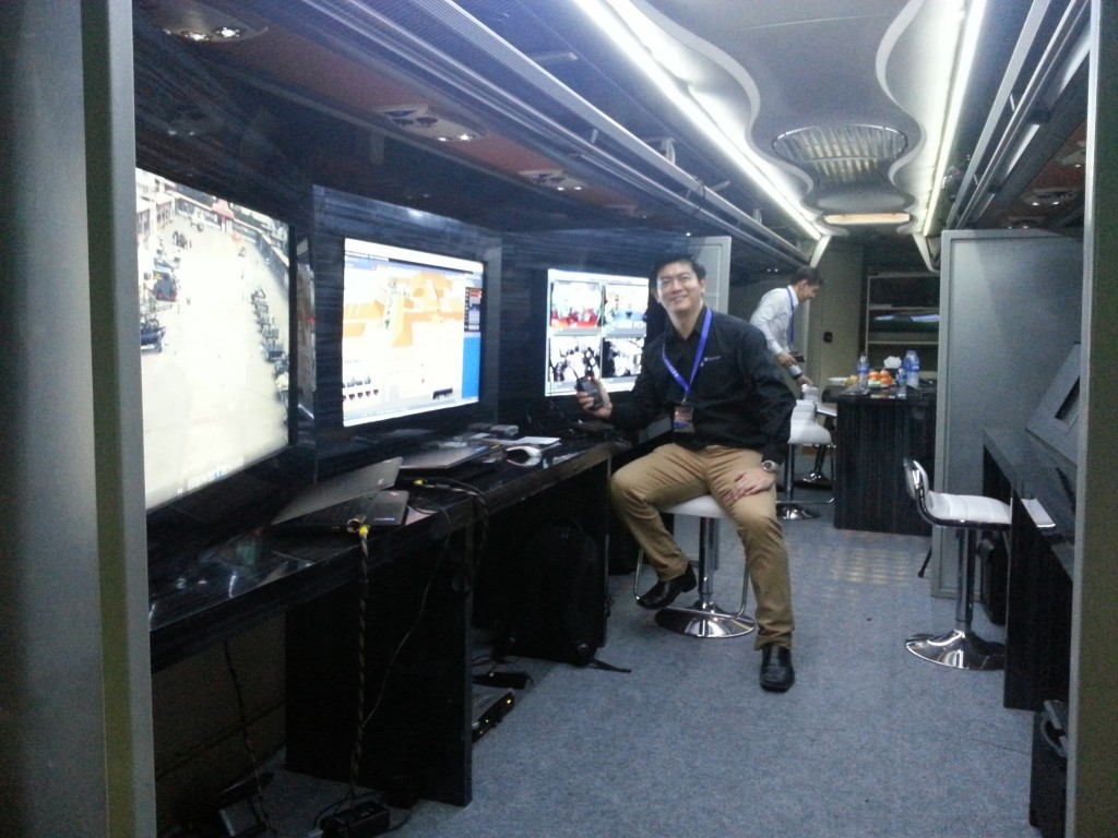 NUCLEUS in mobile control command vehicle