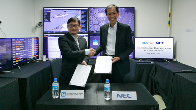 Mou Signing Ceremony between G Element and NEC Asia Pacific